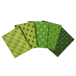 The Craft Cotton Company Green Fat Quarter Bundle
