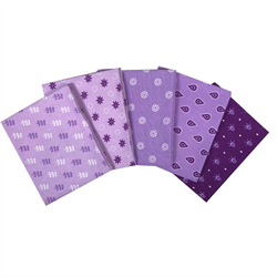 The Craft Cotton Company Purple Fat Quarter Bundle