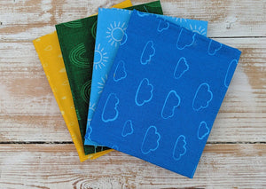 The Craft Cotton Company Rainbow Etchings Blue Fat Quarter Bundle