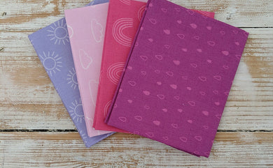 The Craft Cotton Company Rainbow Etchings Purple Fat Quarter Bundle