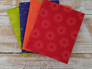 The Craft Cotton Company Rainbow Etchings Red Fat Quarter Bundle
