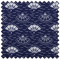 Kimono Fans Navy Quilting Fabric