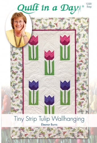 Tiny Strip Tulip Wall Hanging Pattern
