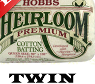 "Heirloom Hobbs 80/20 Premium Twin Batting 72"" x 96"""