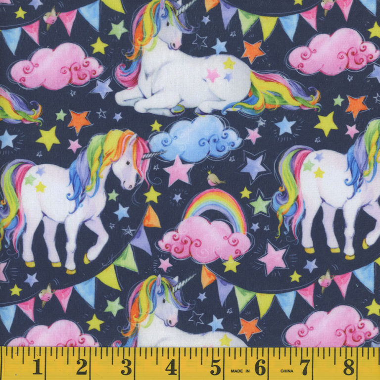 Unicorn Minky Fleece Fabric