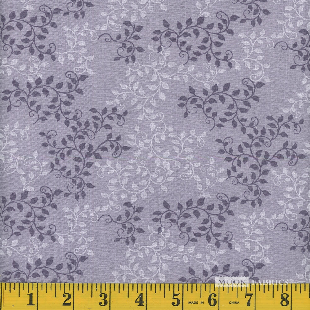 Leaves Quilt Backing Fabric - Concord
