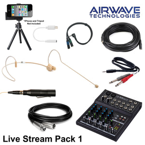 Airwave Technologies wireless microphone system handheld headset church school theater vocal sing sure audio technica
