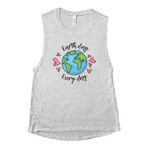Earth Day Every Day Muscle Tank