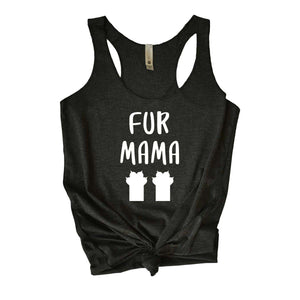 Fur Mama Tank Top - Black