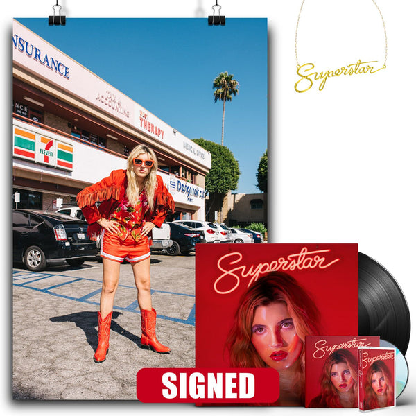 Caroline Rose - Superstar [SIGNED New West Exclusive Vinyl + SIGNED CD + Cassette + Necklace Bundle]
