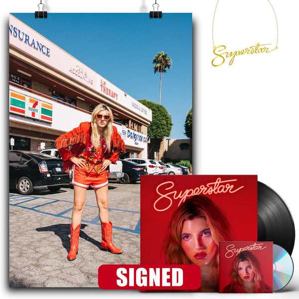 Caroline Rose - Superstar [SIGNED New West Exclusive Vinyl + SIGNED CD + Necklace Bundle]