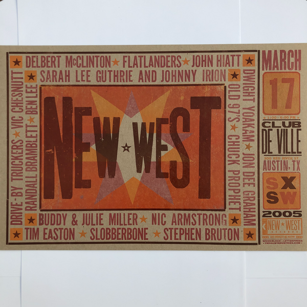 New West Records SXSW 2005 Club DeVille Poster