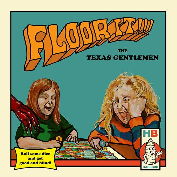 The Texas Gentlemen - Floor It!!! [New West Exclusive Colored Vinyl + CD + Stash Bag + Ringer Shirt Bundle]