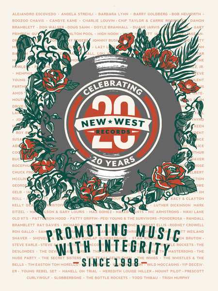 New West Records 20th Anniversary Poster