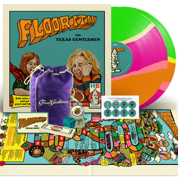 The Texas Gentlemen - Floor It!!! [New West Exclusive Colored Vinyl + Stash Bag Bundle]