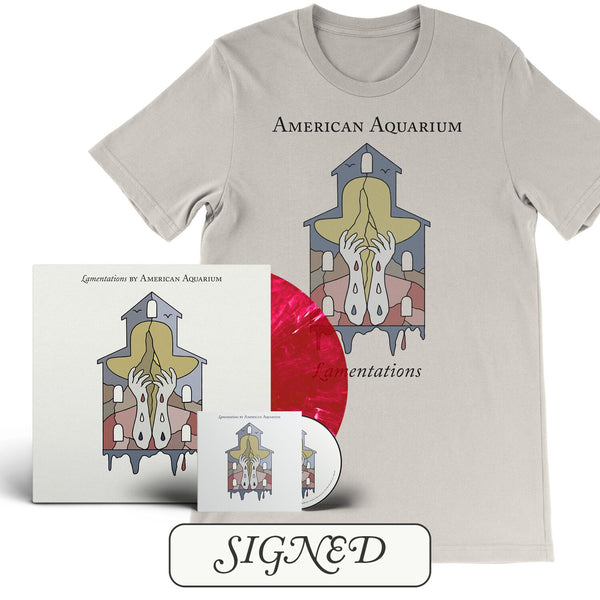 American Aquarium - Lamentations [SIGNED New West Exclusive Colored Vinyl + SIGNED CD + T-Shirt Bundle]