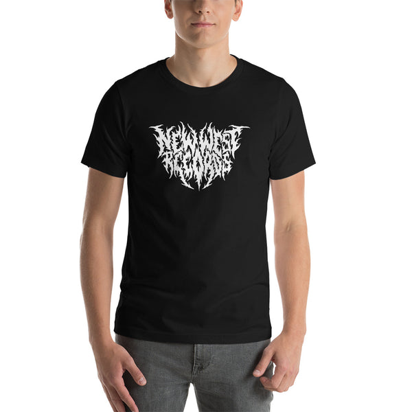 New West Records Heavy Metal Logo Unisex T-Shirt [White Logo Black Metal]