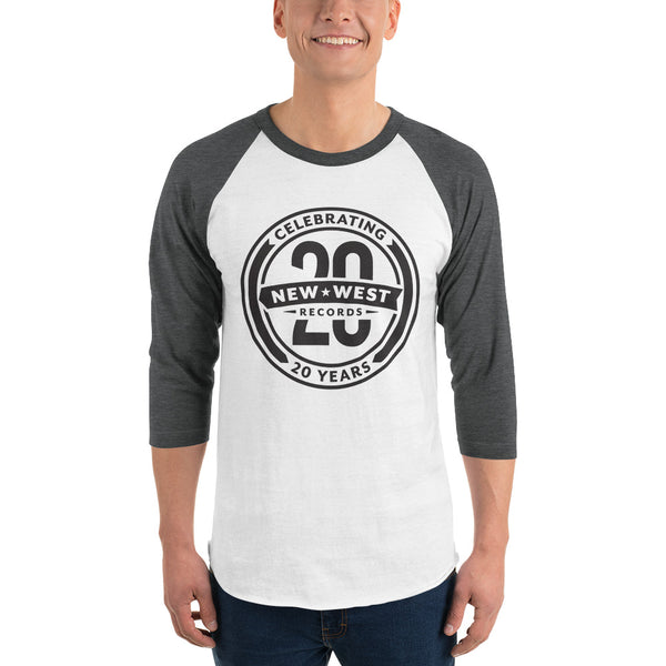 20th Anniversary Black Logo 3/4 Sleeve Raglan T-Shirt
