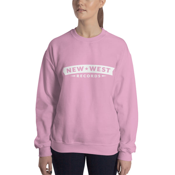 New West White Logo Unisex Crewneck Sweatshirt