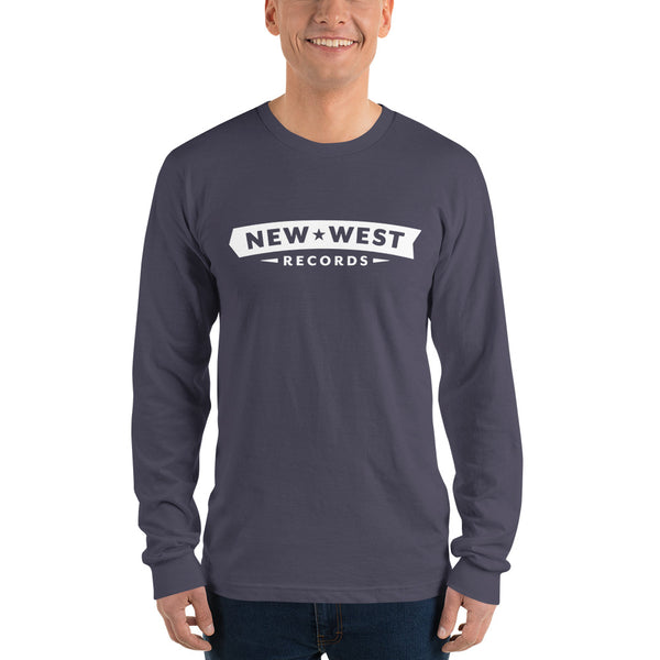 New West White Logo Unisex Long Sleeve T-Shirt