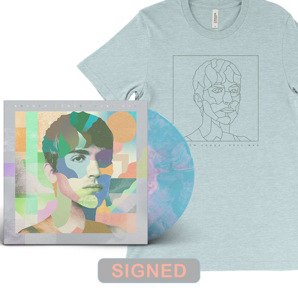 Andrew Combs - Ideal Man [SIGNED New West Exclusive Colored Vinyl + T-Shirt Bundle]