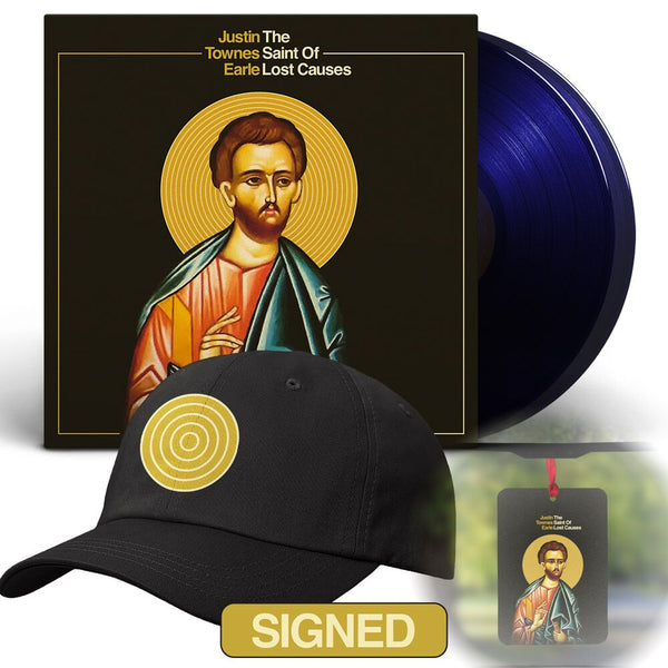 Justin Townes Earle - The Saint Of Lost Causes [SIGNED New West Exclusive Colored Vinyl + Hat + Air Freshener Bundle]