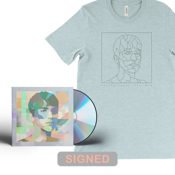 Andrew Combs - Ideal Man [SIGNED CD + T-Shirt Bundle]