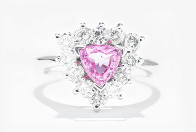 Adele Diamond 14K White Gold 3/4ct Pink Sapphire & .96ctw Diamond Fashion Ring