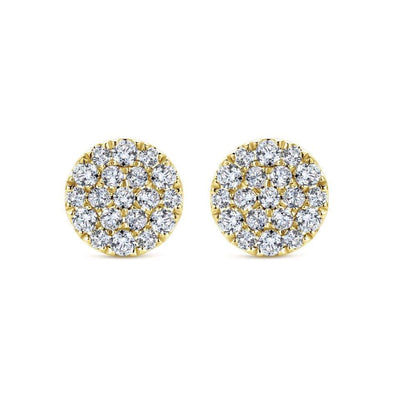 Gabriel NY 14k White Gold Silk Diamond Stud Earrings 1/2 Carat