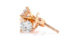 14K Rose Gold 1/2CT. TW. Diamond Martini Stud Earrings