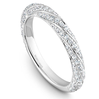 Noam Carver Platinum Stackable Ring - 86 Round Diamonds STB23-1WZ-D