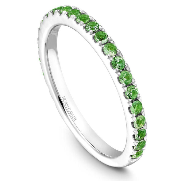 Noam Carver Platinum Stackable Ring - 24 Round Tsavorites STA3-1WZ-T