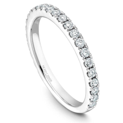 Noam Carver Platinum Stackable Ring - 24 Round Diamonds STA3-1WZ-D