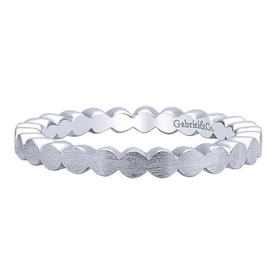 Gabriel NY Ladies 925Silver Stackable Band LR5965-7SVJJJ