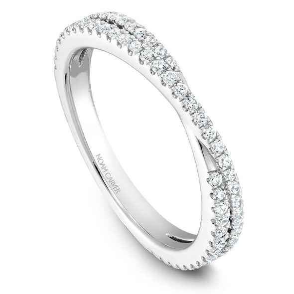 Noam Carver Platinum Stackable Ring - 67 Round Diamonds STB13-1WZ-D