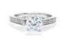 Gabriel New York 14K White Gold 1/5ctw Diamond Contemporary Engagement Ring
