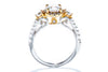 Gabriel New York 18K White & Yellow Gold Halo Engagement Ring 117494