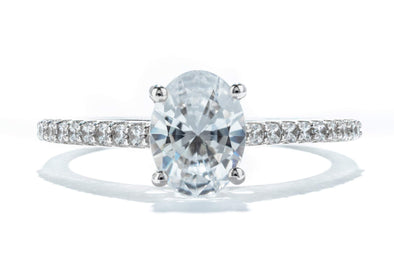 Adele Diamond 14K White Gold Solitaire Engagement Ring ER12827C4T44JJ