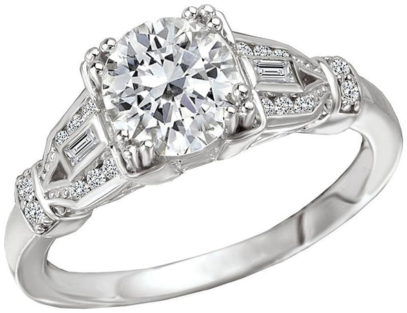 14K Vintage Art Deco Diamond Engagement Ring