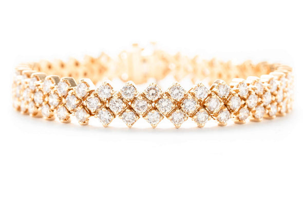Adele Diamond 18K Yellow Gold 10ctw Diamond Tennis Bracelet 1331