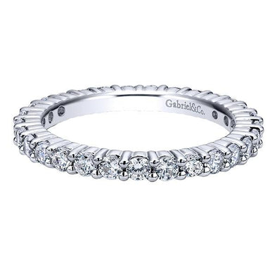 Ladies 14K White Gold Eternity Anniversary Band