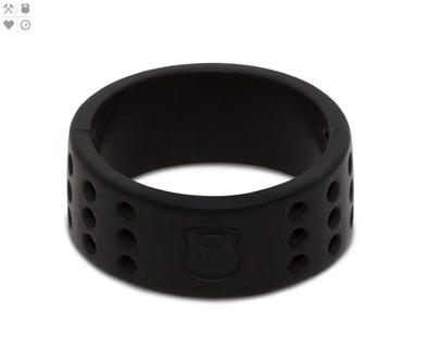 Gents QALO Black Perforated Silicone Band