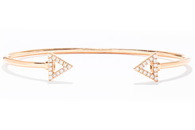 Gabriel New York 14K Rose Gold .21ctw Diamond Triangles Bangle Bracelet BG3893K45JJ