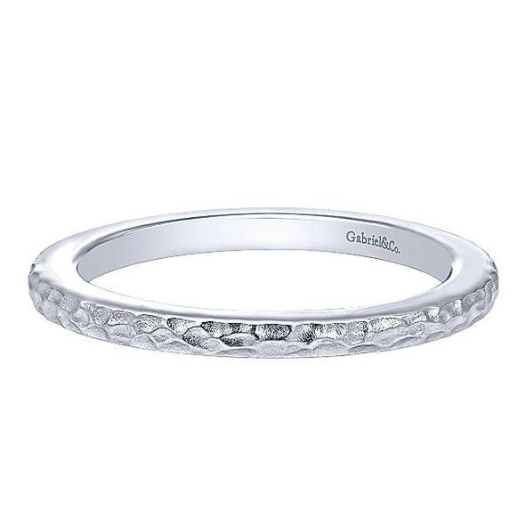 Gabriel NY Ladies 925Silver Stackable Band LR5983-7SVJJJ