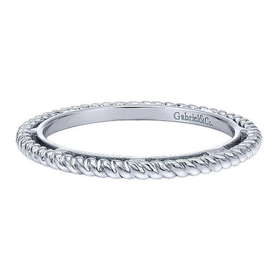 Gabriel NY Ladies 925Silver Stackable Band LR5989-7SVJJJ