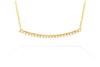 Gabriel New York 14K Yellow Gold .19ctw Diamond Curved Bar Necklace NK4273Y45J