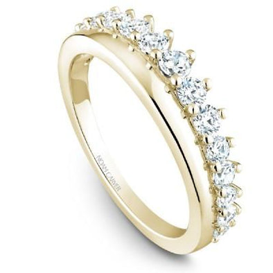 Noam Carver 18K Gold Stackable Ring - 15 Round Diamonds STB32-1S-D