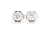 Adele Diamond 14K White Gold .72ctw Diamond Stud Earrings