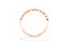 Adele Diamond 10K Rose Gold .08ctw Diamond Stackable Band Ring SB-0521
