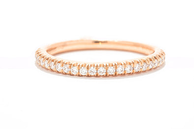 Gabriel & Co. 14K Rose Gold Diamond Band WB1095